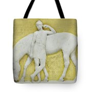 An Amazon Watering Her Horse, Rome Tote Bag
