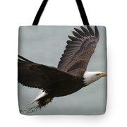 An American Bald Eagle Soaring Tote Bag