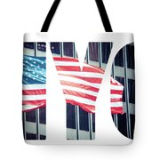 An American Flag In New York. Tote Bag