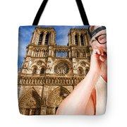An American In Paris Notre Dame Tote Bag