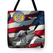 An American P-51d Pof Tote Bag