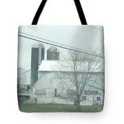An Amish Barn In April Tote Bag