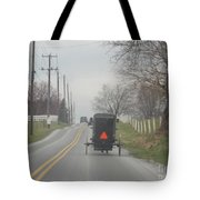 An Amish Buggy In April Tote Bag