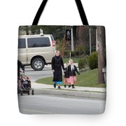 An Amish Family Going For A Walk Tote Bag