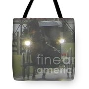 An Amish Family Travels Home In The Evening Tote Bag