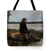 An Angler Ca. 1890 Tote Bag