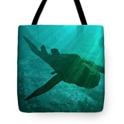 An Armored Bothriolepis Glides Tote Bag by Walter Myers