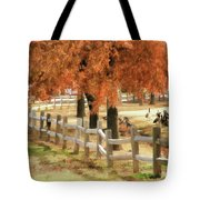 An Autumn Day At The Park Tote Bag