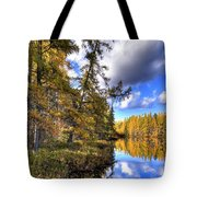 An Autumn Day At Woodcraft Camp Tote Bag