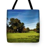 An Autumn Golf Day Tote Bag
