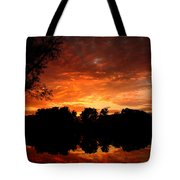 An Awesome Sunset  Tote Bag