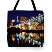 An Early Evening In Cleveland Tote Bag