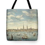 An East Prospective View Of The City Of Philadelphia Tote Bag