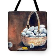 An Egg Mishap Tote Bag by Arline Wagner