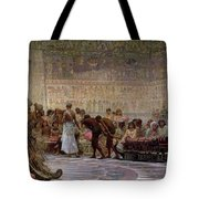An Egyptian Feast Tote Bag by Edwin Longsden Long