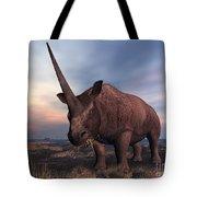 An Elasmotherium Grazing Tote Bag