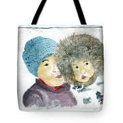 An Eskimo Mother And Child Tote Bag