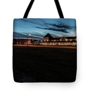 An Evening At The Train Station Tote Bag