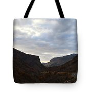 An Evening View Through A Valley In The Southwest Foothills Of The Sierra Nevadas Tote Bag