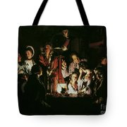 An Experiment On A Bird In The Air Pump Tote Bag by Joseph Wright of Derby