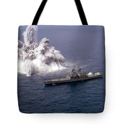 An Explosive Charge Is Detonated Tote Bag by Stocktrek Images