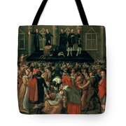 An Eyewitness Representation Of The Execution Of King Charles I Tote Bag