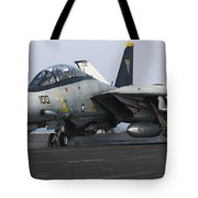 An F-14d Tomcat Launches Off The Flight Tote Bag