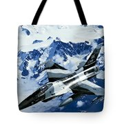 An F-15c Falcon From The 18th Aggressor Tote Bag