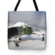 An F-4d Phantom II Aircraft Static Tote Bag