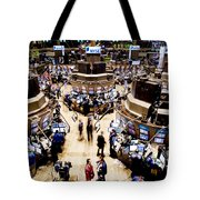 An High Angle View Of The New York Tote Bag