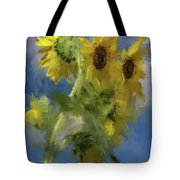 An Impression Of Sunflowers In The Sun Tote Bag
