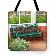 An Inviting Bench Tote Bag