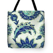 An Iznik Blue And White Pottery Tile, Turkey, 17th Century, By Adam Asar, No 18b Tote Bag