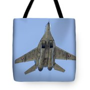 An Mig-29as Fulcrum Of The Slovak Air Tote Bag