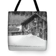 An Obdurate Sinner Lives Here. B And W   Tote Bag