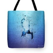 An Obscene Hand Sign Tote Bag
