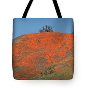 An Ocean Of Orange On The Mountain Top Tote Bag