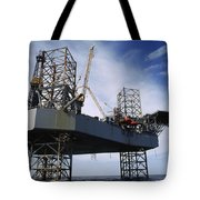 An Oil And Gas Drilling Platform Tote Bag