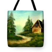 An Old Cabin In The Wild Tote Bag