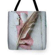 An Old Door And Feather Tote Bag