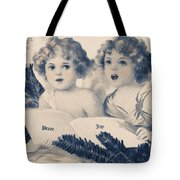 An Old Fashioned Christmas Greeting Tote Bag by Chris Armytage