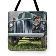 An Old Green Ford Truck Tote Bag