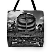 An Old International Truck Tote Bag