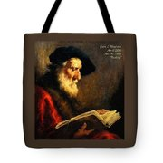 An Old Man Reading P A Tote Bag