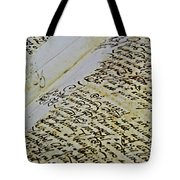 An Old Manuscript Tote Bag