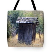 An Old Outhouse  Tote Bag