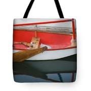 An Old Sailboat Tied To The Dock Tote Bag