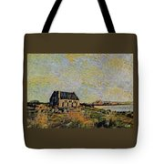 An Old Scottish Cottage Overlooking A Loch  L A S Tote Bag