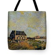 An Old Scottish Cottage Overlooking A Loch  L B Tote Bag