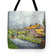 An Old Stone Cottage In Great Britain Tote Bag